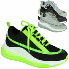 Ladies Wedge Trainers Womens Sneakers Lace Up Comfy Jogging Classic Pumps Shoes
