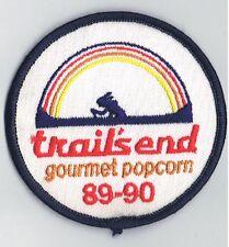 Vintage 1989-90 Trails End Popcorn Patch Snack Food Advertising Indian Canoe BSA