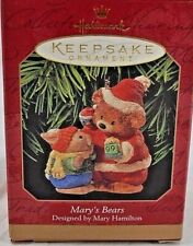 Hallmark Keepsake Ornament Mary's Bear Designed by Mary Hamilton 1999