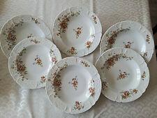 6 assiettes creuses Porcelaine de LIMOGES B&Cie  Lot 1/2
