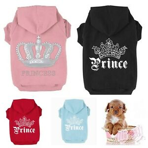 Princess Prince Chihuahua Clothes Clothing for Small Tiny Pets Hoodie Coat