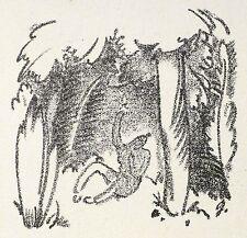 Willi Geiger-guerrero en el bosque-litografía 1912