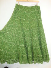 April Cornell Green Dot Tiered Skirt New L Large Vintage Romantic A-line NWT