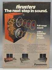 Vintage Magazine Ad Print Design Advertising Panasonic Thrusters Speakers