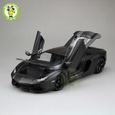 1:18 Lamborghini Aventador LP700-4 Diecast Welly FX Model 18041 Matte Black