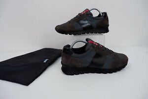 Prada Trainers Sneakers Khaki Green & Brown Size 40 Uk 6 Mens VGC