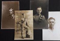 4 Vintage RPPC: Military #M277: Named: Royal Artillery Edinburgh 1915-1918