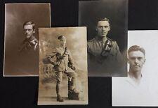 More details for 4 vintage rppc: military #m277: named: royal artillery edinburgh 1915-1918