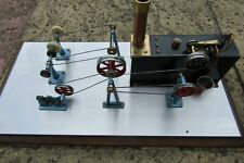 Scratch Built Live Steam workshop with Mamod steam power tools