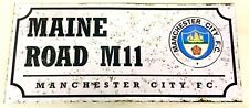 Manchester City Street Plaque Sign Official Football Club Gifts Retro Maine Road