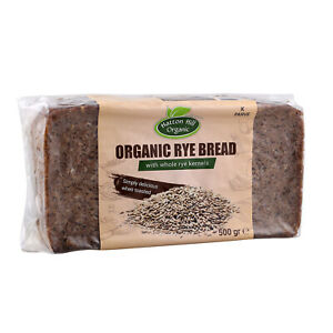 Organic Rye Bread with Whole Rye Kernels 500g (Pack of 12)