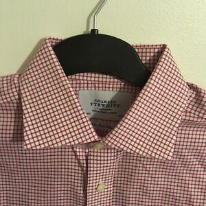 Charles Tyrwhitt Red Check shirt 16 1/2 neck