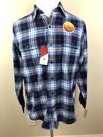 IZOD Men's Button Front Long Sleeve Shirt Multi Color Plaid Heat FX Size Medium