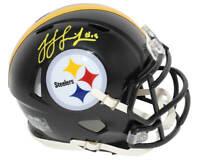 JuJu SMITH-SCHUSTER Signed Steelers Riddell Speed Mini Helmet (Yellow) -SCHWARTZ
