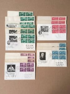 1945-46 1-5c FRANKLIN D. ROOSEVELT 930-933 FDC Lot of 16, Art Craft, WWII Cannon