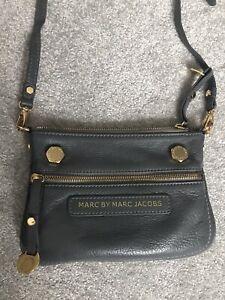 Marc Jacobs Grey Leather Crossbody Bag