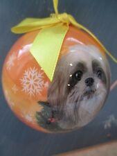 SHIH TZU ~ CHRISTMAS BALL ORNAMENT    # 87