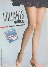 ▬► PUBLICITE ADVERTISING AD WEIL  Bas et collant (e)