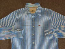 Hollister Mens Blue & White Striped Button Down Front Dress Shirt S small