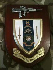 42 Commando Royal Marines Military Wall Plaque+ Pewter SA80
