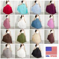 Women Summer Beach Boho Gypsy Hippie Maxi Skirt Cotton Long Thai Skirts US STOCK