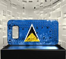 Coque rigide mat pour Galaxy S10 Drapeau SAINTE LUCIE 06