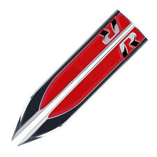 2Pcs Red Auto Car R Logo Racing Dagger Fender Emblems Sticker Badge Decal for VW