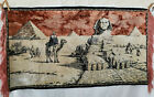 """Vintage Egyptian Tapestry Sphinx Camels Pyramid 38"""" x 21"""""""