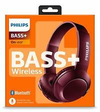 Philips SHB3075RD BASS+ On-Ear Bluetooth Kopfhörer mit Mikrofon Rot