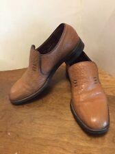 Mens Size 8-1/2 Camel Skin Slip On Shoes Ingledews Harrt
