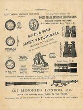 Stampa antica PUBBLICITA' BRYER & SONS  ADVERTISING 1882 Old Antique print