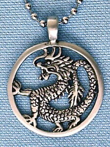 Welsh Dragon Pewter pendant Mens Womens Boys Necklace Chain PC0063