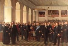 "oil painting"" fathers of the Danish constitution assembled in Copenhagen""@N10333"