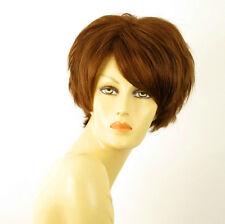 perruque femme 100% cheveux naturel châtain clair cuivré ref NAOMIE 30
