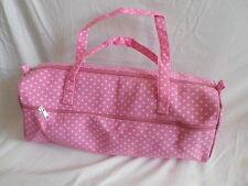 NEW PINK POLKA DOT FABRIC SEWING / KNITTING / CRAFT BAG.