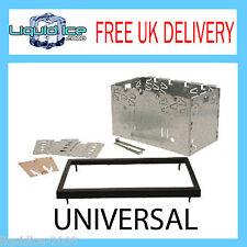 X 4 100 double din universel pour autoradio cage kit & fascia trim surround pour autoradio