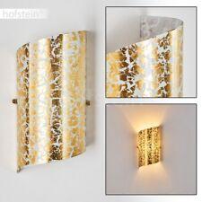 Applique murale Lampe de corridor Lampe de séjour dorée Spot Lampe murale Verre