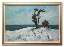 MALTE SÄRLÖV *1907-1982 / COASTAL VIEW - Original Swedish Oil Painting