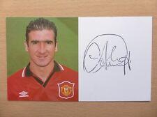 1994-96 Eric Cantona Signed Man Utd Club Card (10004)