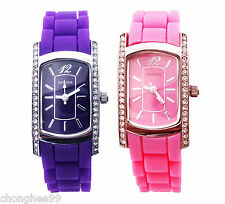 SEKONDA Ladies Womens Watch Silicone Strap Fashion Quartz WristWatch Timepiece