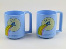 1982 Universal City Studios E.T. & Me Extra Terrestrial Movie Vintage Mugs Cups