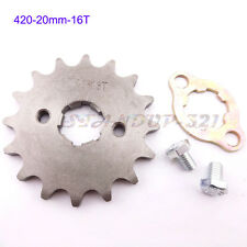 420 16 Teeth 20mm ID Front Engine Sprocket For YCF  PitsterPro SSR Pit Dirt Bike