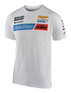 2020 TROY LEE DESIGNS TLD TEAM KTM TEE T SHIRT WHITE MENS MOTOCROSS MX TOP NEW
