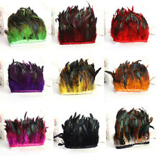 Rooster Feathers Hackle Fringe trim 1-10 yards Craft Sewing Costume 10-15cm