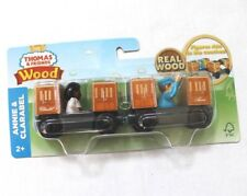 Thomas & Friends Fisher Price Real Wood Annie & Clarabella Coaches with Figures