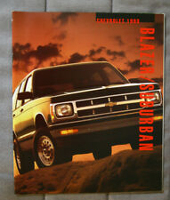 CHEVROLET BLAZER SUBURBAN 1993 dealer brochure - French - Canadian Market - 1