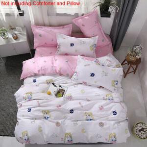 Cute Cartoon Sailor Moon Bedding Sets Duvet Cover Sheet Pillow Home Textile Bed