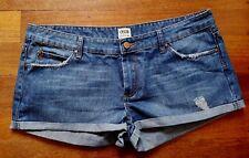 ASOS DENIM Cute Women's Blue Denim Short Shorts SIZE 16