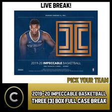 2019-20 PANINI IMPECCABLE BASKETBALL 3 BOX CASE BREAK #B406 - PICK YOUR TEAM