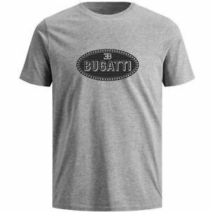 Bugatti T-Shirt Macaron Logo (Grey)